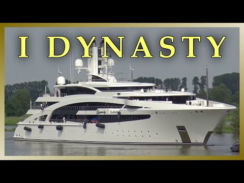 4K Video | Megayacht IDYNASTY | Passage Störsperrwerk Wewelsfleth