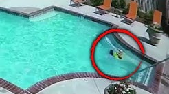 Sister Jumps Into Pool to Rescue 3-Year-Old