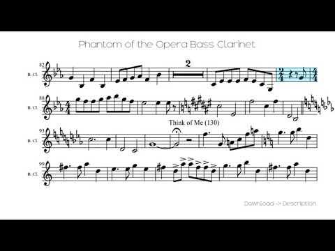 the phantom of the opera clarinet