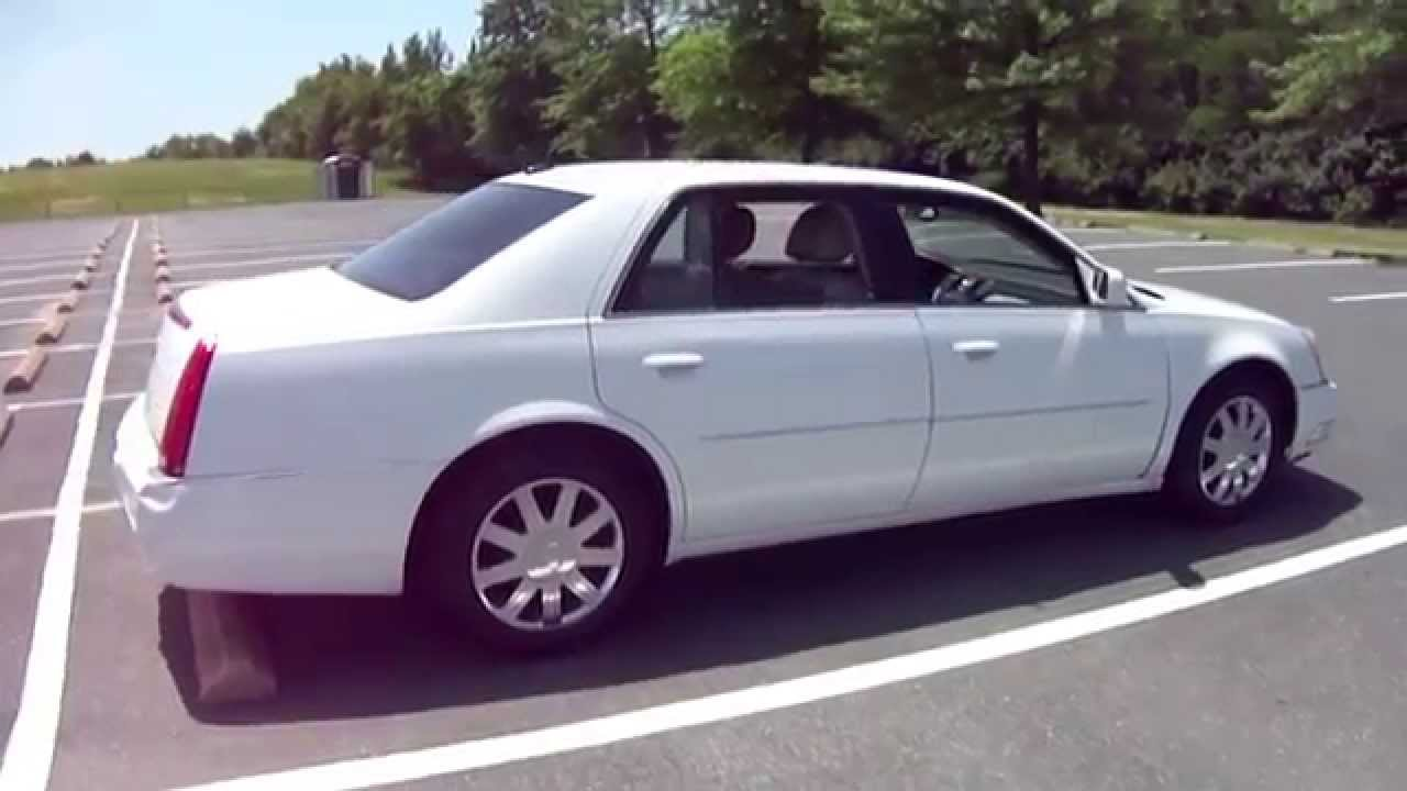 2008 Cadillac DTS White - YouTube