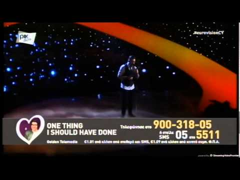 Eurovision 2015 (Cyprus) : [WINNER] Giannis Karagiannis - One Thing I Should Have Done