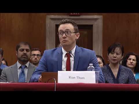 Rian Thum Testimony--Xinjiang's Human Rights Crisis
