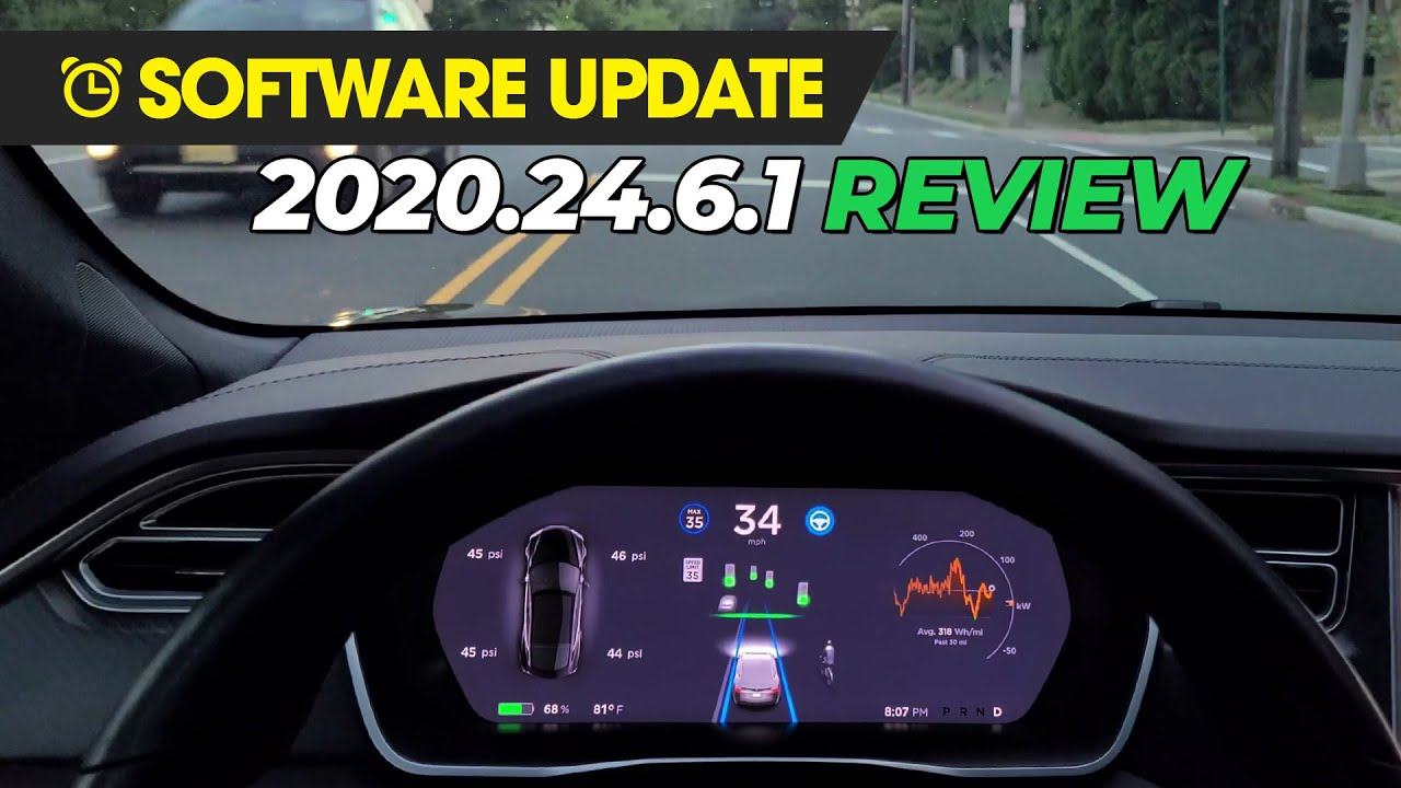 Tesla Software Update - 2020.24.6.1 (LOTS OF FEATURES!!!)