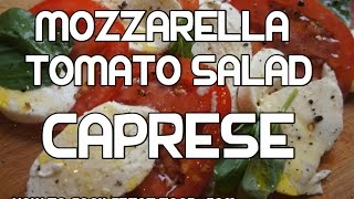Caprese Salad Recipe - Mozzarella Cheese Tomato Basil Italian