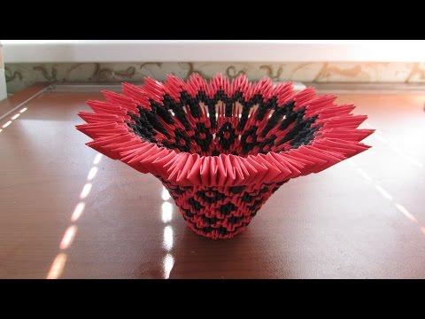 3D Origami Bowl Tutorial