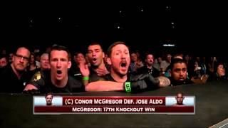 UFC 194: Conor McGregor VS José Aldo Full Fight + Corner's Reaction