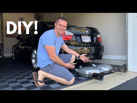 BMW 335i Dinan Exhaust DIY Install!