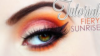 Tutorial: Fiery Sunrise | + How to Make Your Own Eyeliner!