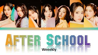 1 HOUR AFTER SCHOOL Lyrics - Weeekly (위클리)