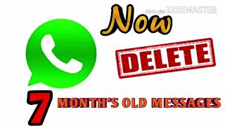 Delete Whatsapp 7 Month's Old Messages