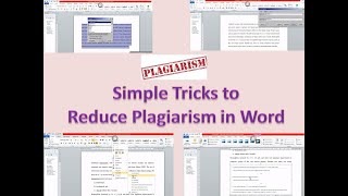 How to avoid Plagiarism in MS Word?