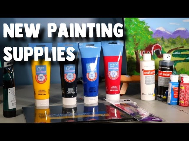 New Painting Supplies