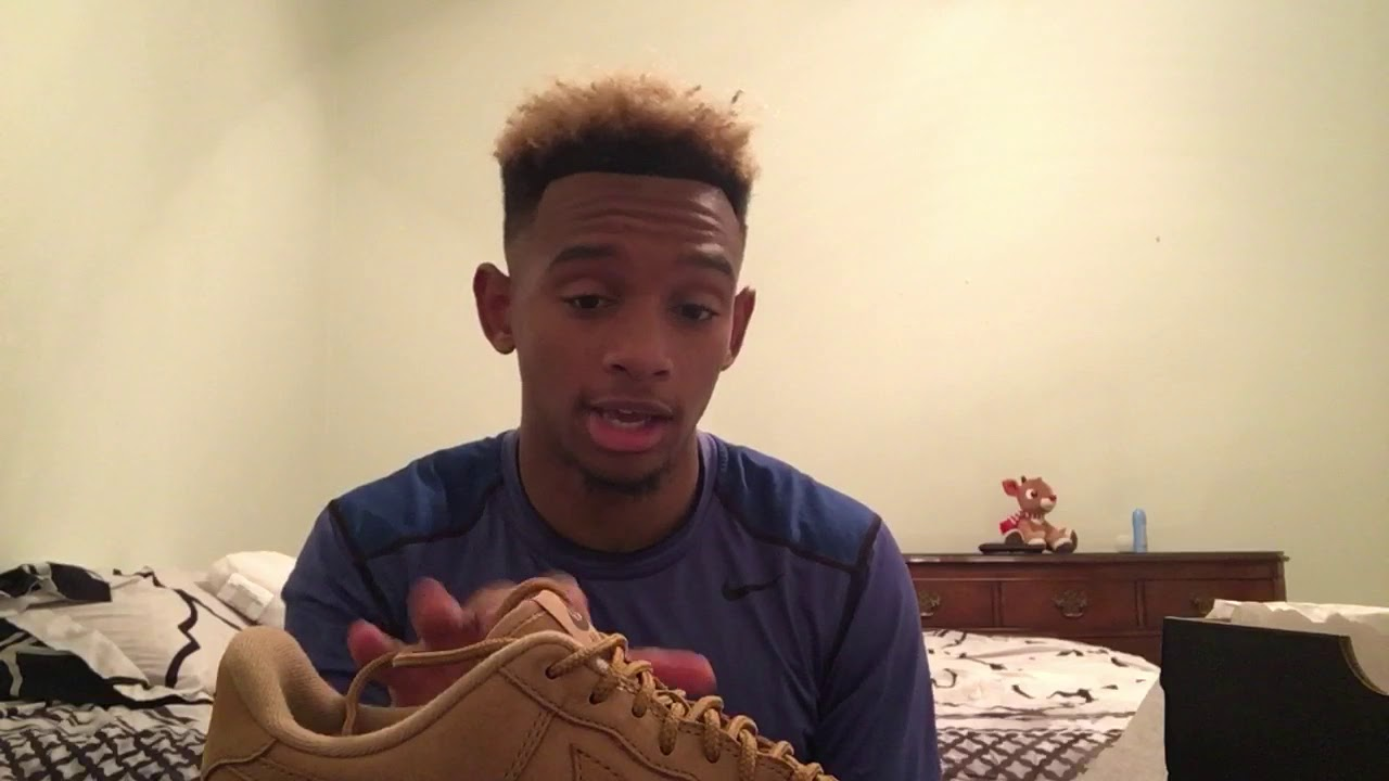 competitive price 5d13f 82d5c nike Air Force 1 07 WB low flax unboxingreview