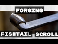 Making a Fishtail Scroll // How to Forge a Scroll with a Basic Fishtail Finial