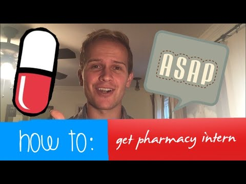 How To Get A Pharmacy Intern Job (tips/advice)