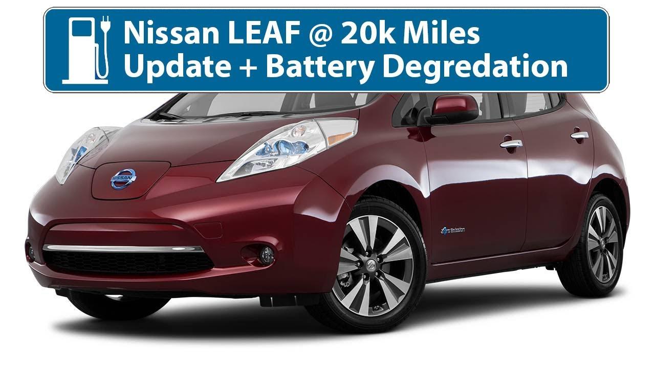 Nissan Leaf 20k Mile Battery Degredation Check Update