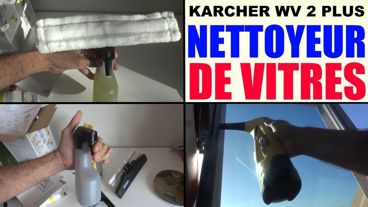 nettoyeur de vitres karcher wv2 plus lave vitre window vacuum cleaner akku fenstersauger youtube. Black Bedroom Furniture Sets. Home Design Ideas