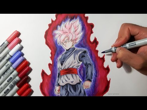 Drawing Goku Black SUPER SAIYAN ROSE