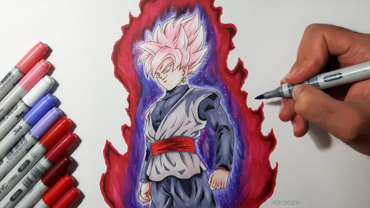Drawing Goku Black Super Saiyan Rose Youtube
