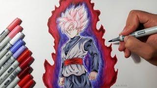 Drawing Goku Black SUPER SAIYAN ROSE