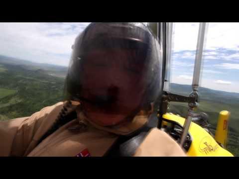 Авторевю: Константин Сорокин полетал на автожире в Монголии