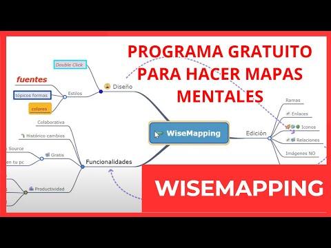 💥Tutorial de WiseMapping🔆🧠 [Programa gratuito para hacer mapas mentales y conceptuales]