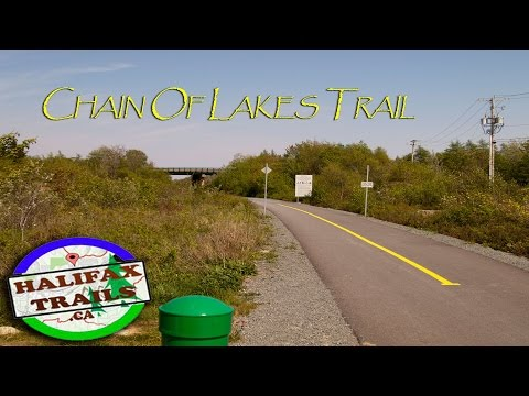 Biking on the Chain Of Lakes Trail. Halifax, Nova Scotia.
