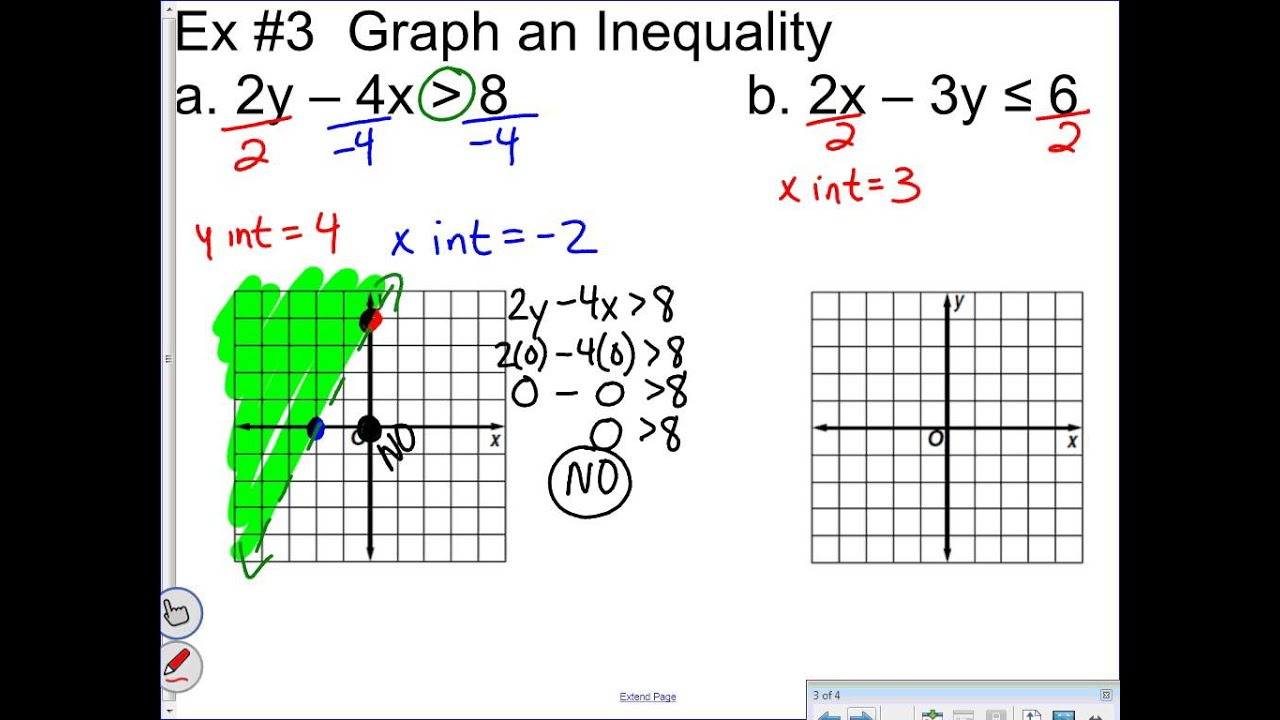 Unit 4 Lesson 4 Graphing Inequalities in Two Variables ...
