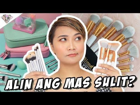MICHELLE DY BASICS BRUSHES VS ANNE CLUTZ BEGINNER BRUSH SET | ALIN ANG MAS SULIT? | + GIVEAWAY