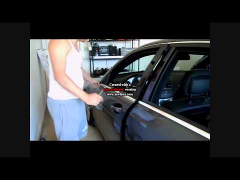 How to remove the upper and lower chrome window trim on a W204 Mercedes-Benz