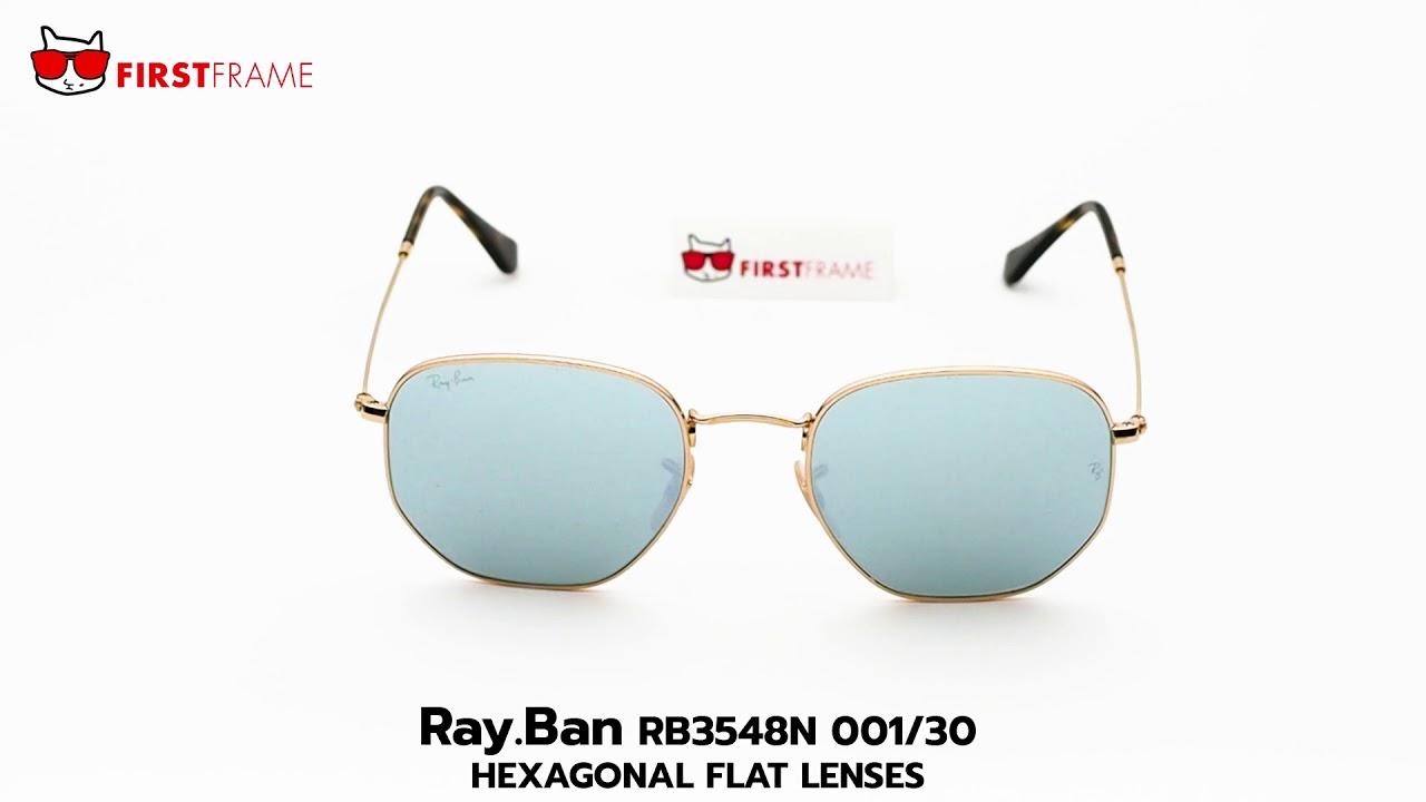 a66632a6923 RayBan RB3548N 001 30 HEXAGONAL FLAT LENSES - YouTube