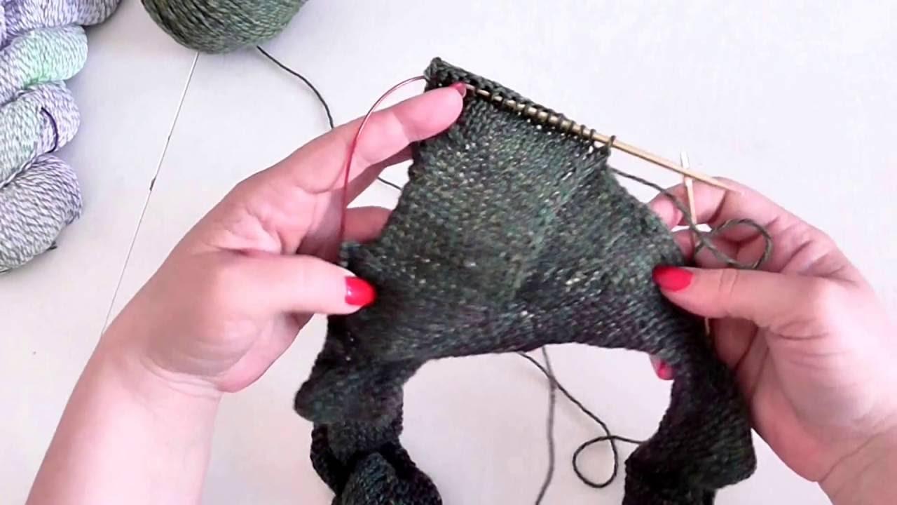Entrelac pletený do kruhu 3. díl první řada čtverců fa22dd6938