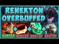WTF! HOW DOES THIS BUFF REACH LIVE GAME?? NEW CROC W IS 100% OP! RENEKTON GAMEPLAY League of Legends
