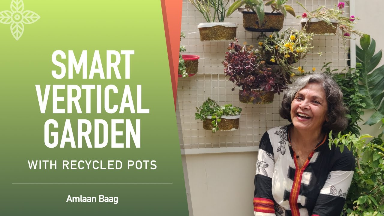 Smart Vertical Garden with Recycled Pots | Complete DIY Guide | दीवार पर भी बगीचा बन सकता है