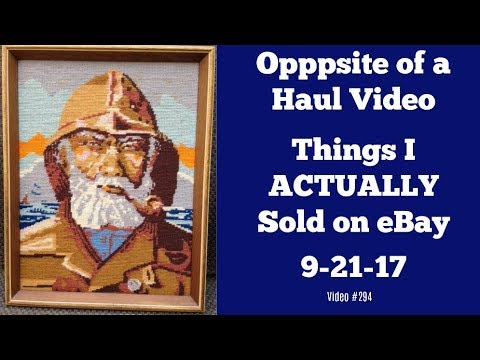 Opposite of a Haul Video: Things That Sold on eBay 9 20 17
