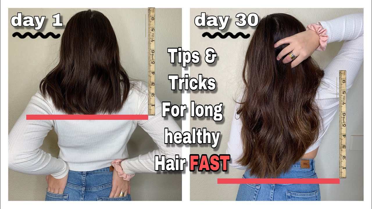 How To Grow Your Hair Long Fast 3 Inches In A Month Best Tips For Growth Youtube