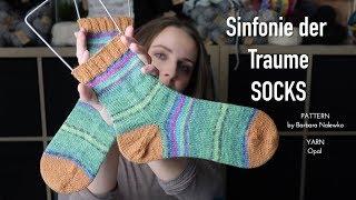 Sinfonie der Traume Socks Opal yarn finished object knitting ILove
