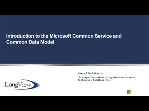 Common Data Service Basics for Microsoft Dynamics CRM/365