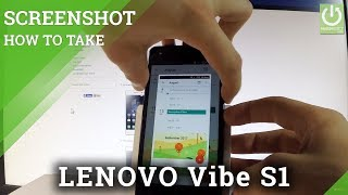 LENOVO Vibe S1 Screenshot / How to Take Screenshot