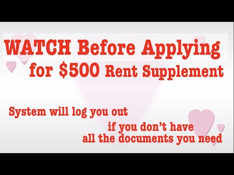 WATCH BEFORE Submitting Your Application For $500 BC Temporary Rent Supplement.