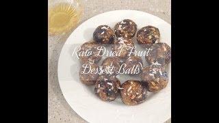 HowTo Make Raw Dried Fruit Dessert Balls    Vegan Recipe