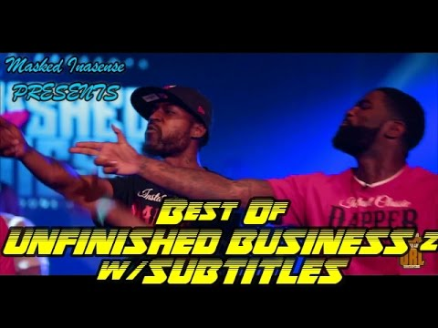 BEST OF UNFINISHED BUSINESS 2 w/SUBTITLES Part 1 | SMACK URL | Masked Inasense