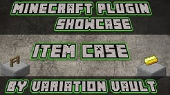 Minecraft Bukkit Plugin - Item Case - Showcase items + shop!
