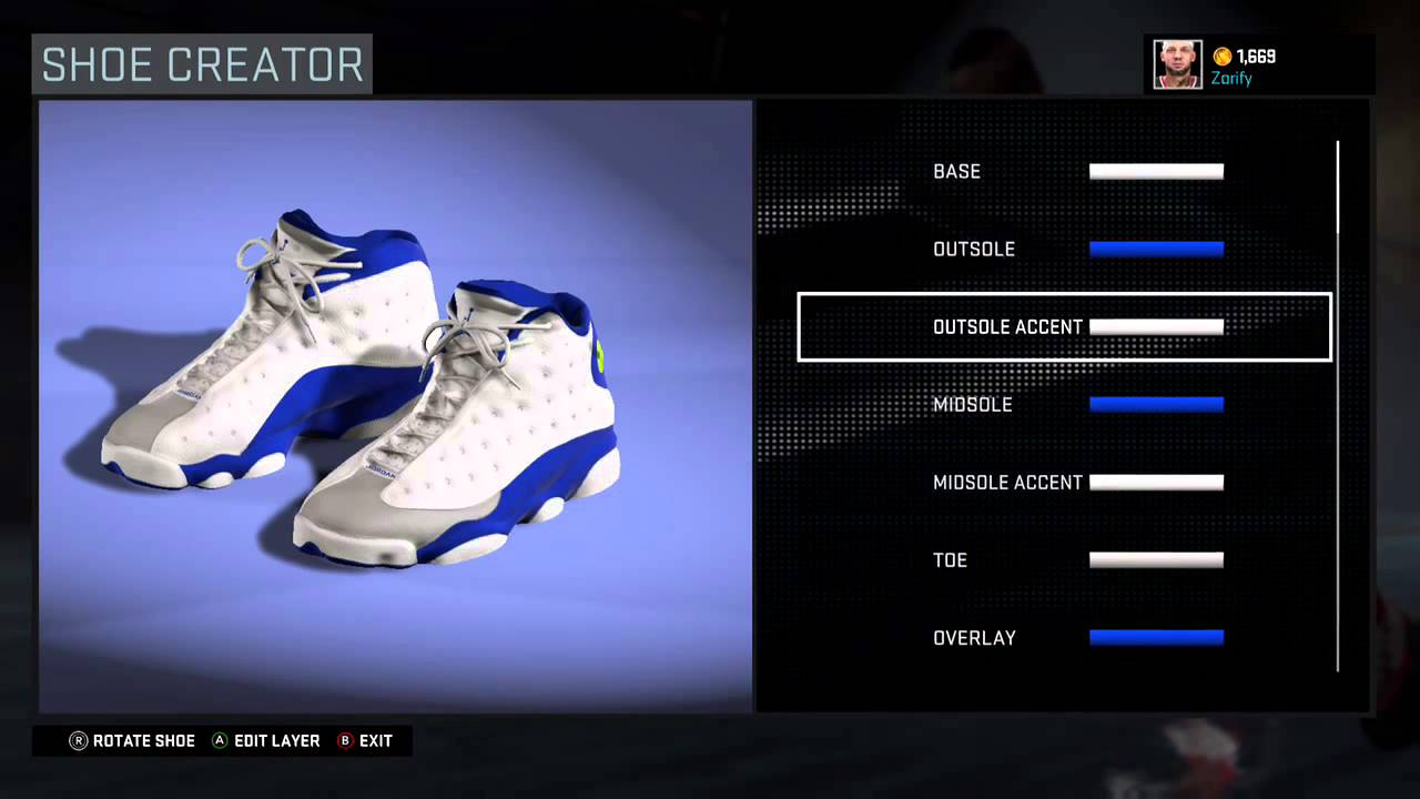 NBA 2K16 Shoe Creator