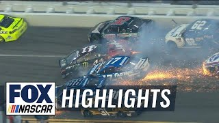 Kurt Busch & Alex Bowman collected in massive late wreck | 2018 DAYTONA 500 | FOX NASCAR