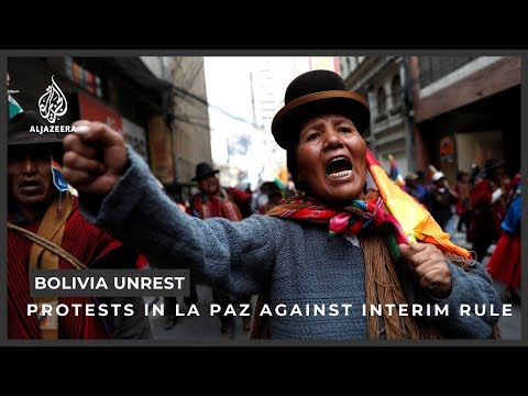 Bolivia unrest: Morales' supporters reject interim President Anez