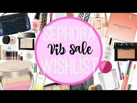 Sephora VIB Sale Wishlist | FALL 2017