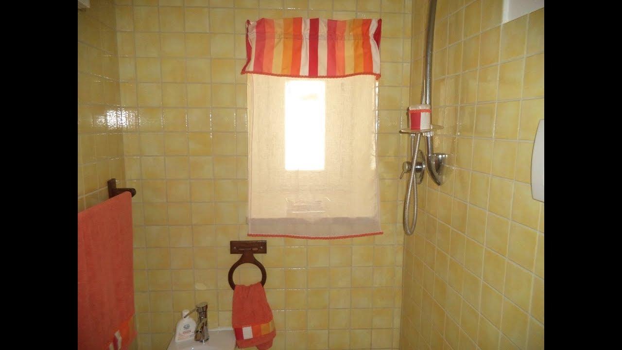 Restyling bagno tenda con mantovana semplice easy diy youtube
