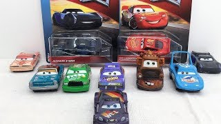 Cars 3 Jackson Storm, Mario Andretti, Bobby Swift, Strip Weathers, Lightning McQueen, Max Schnell