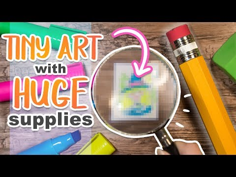 Making TINY ART With HUGE ART SUPPLIES - How Small Can I Draw?